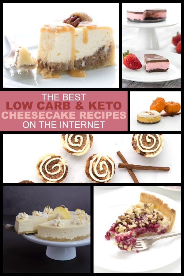 A collection of the best low carb cheesecake recipes