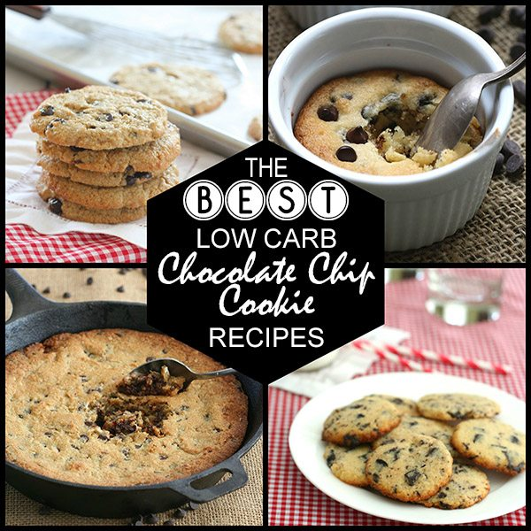 The best Low Carb Chocolate Chip Cookie Recipes. Grain-free, sugar-free, delicious!