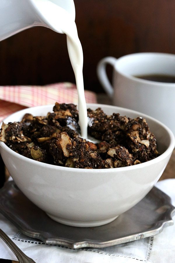 You can have cereal on your ketogenic diet! Try this low carb chocolate orange granola recipe