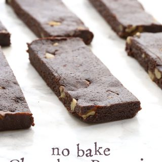 Easy no bake and low carb Chocolate Brownie Energy Bars.