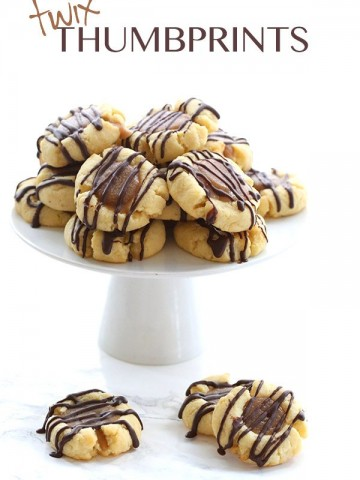 Low Carb Twix Thumbprint Cookies