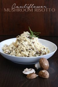 Low Carb Grain-Free Cauliflower Mushroom Risotto Recipe