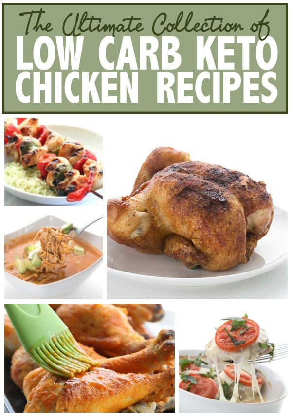 50 Amazing Keto Chicken Recipes - Collage image