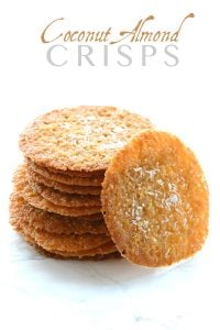 Low carb Grain-Free Coconut Almond Crisps