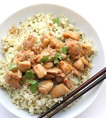Easy low carb Lemongrass Chicken recipe with grain-free cauliflower rice