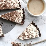 So creamy and chocolatey, this keto chocolate mousse tart is easy to make. Low carb, grain-free, THM, Banting, Atkins.
