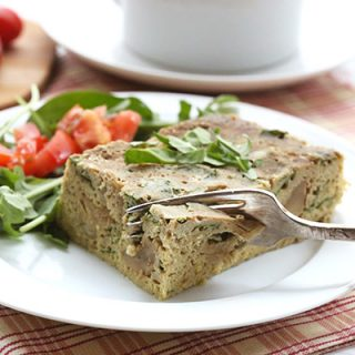 This meat free low carb casserole is easy to make and full of great flavor.