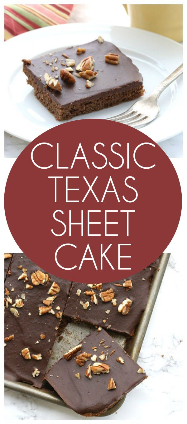 The classic Texas Sheet Cake gets a low carb, grain-free makeover. It's a delicious healthy dessert! Sugar-free, gluten-free, trim healthy mama.
