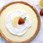 Low Carb Lemon Sour Cream Pie