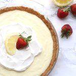 This creamy and refreshing Lemon Sour Cream Pie is a delicious summertime dessert. Keto, trim healthy mama