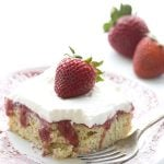 Low Carb Healthy Strawberry Poke Cake Recipe with THM Baking Blend