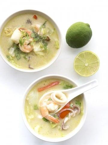 Low Carb Paleo Thai Seafood Chowder