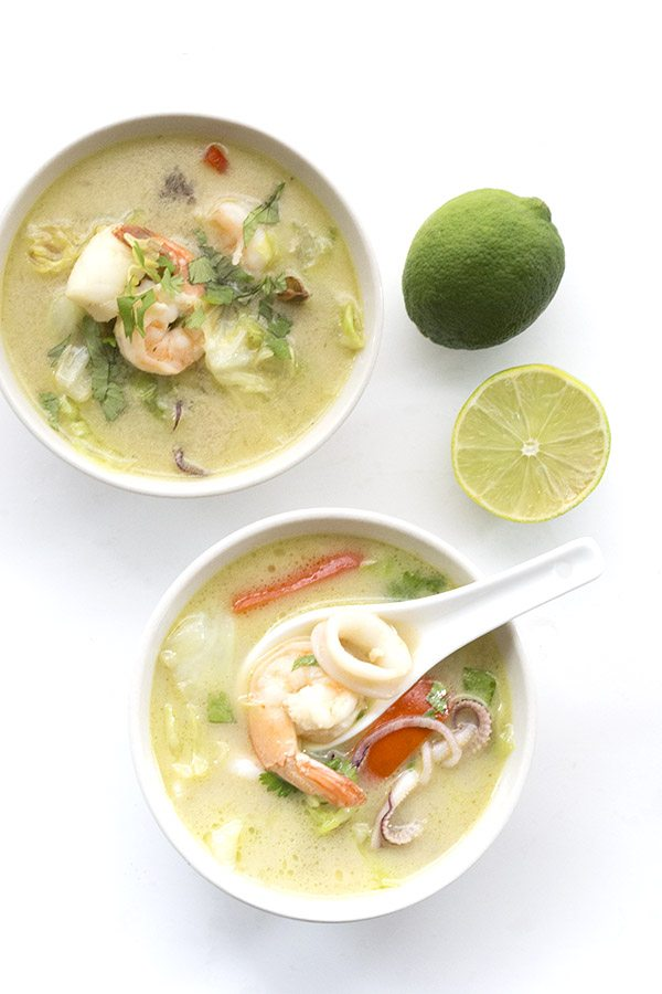 Low Carb Paleo Thai Seafood Chowder