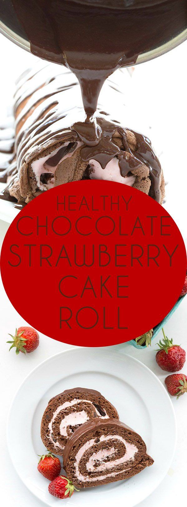 Seriously the best low carb chocolate cake roll with a gorgeous filling of sugar-free strawberry cheesecake. 3.5 net grams per slice! Keto dessert.