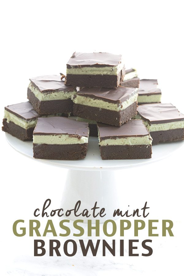 Low Carb Chocolate Mint Grasshopper Brownie Recipe