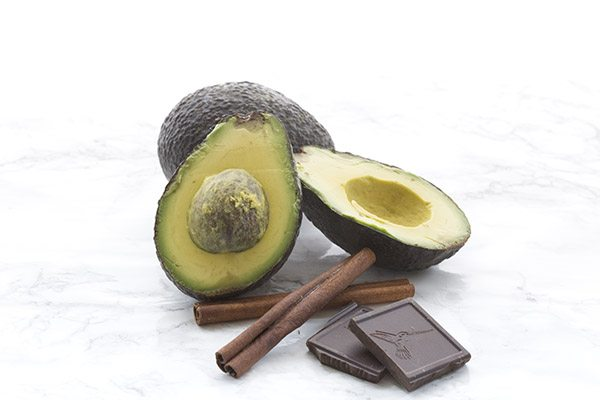Avocado, cinnamon, and chocolate. The beginnings of a delicious low carb keto summer ice cream recipe