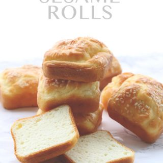 Low carb grain-free Soul Bread Sesame Rolls