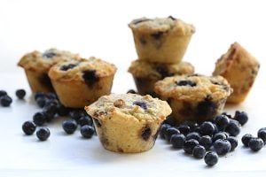 Low Carb Bakery Style Blueberry Muffins