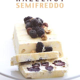 Marionberry Hazelnut Semifreddo
