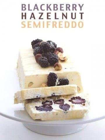 Low Carb Keto Blackberry Hazelnut Semifreddo REcipe