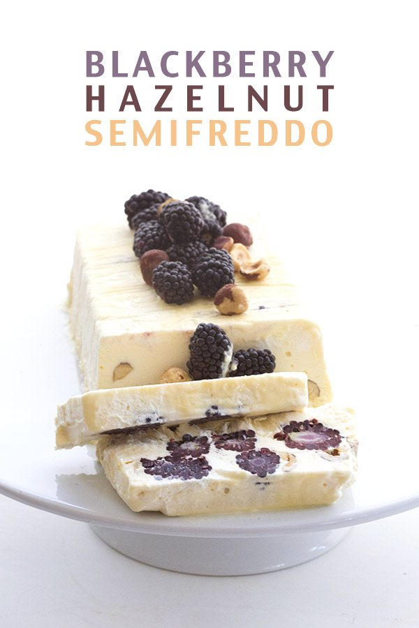 Low Carb Keto Blackberry Hazelnut Semifreddo REcipe