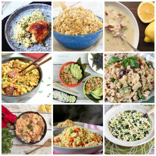 Best low carb recipes for cauliflower rice. Keto, paleo friendly, grain-free, trim healthy mama