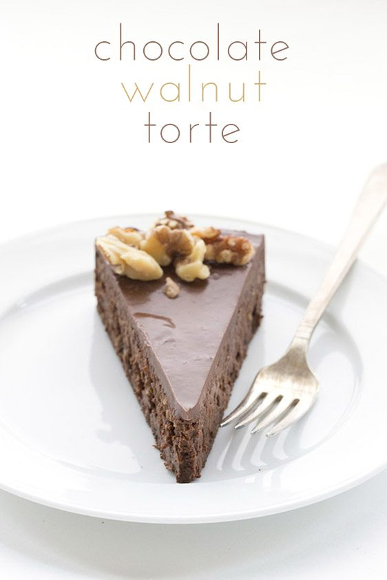 Low Carb Grain-Free Chocolate Walnut Torte Recipe