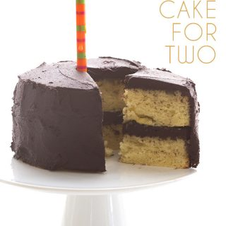 Low Carb Yellow Cake with Chocolate Frosting for Two