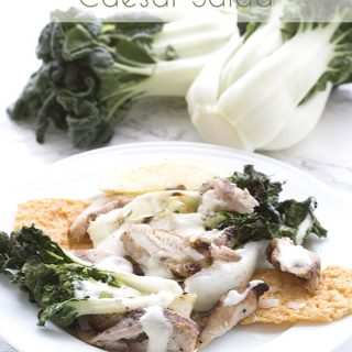 Grilled Chicken Bok Choy Caesar Salad