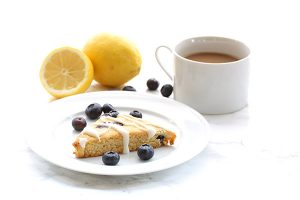 Low Carb Lemon Blueberry Scones