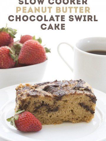 A delicious low carb peanut butter and chocolate cake that you make in your slow cooker!
