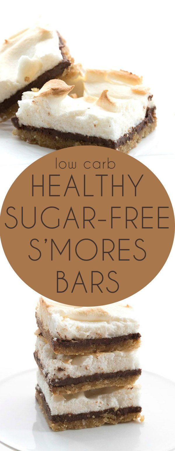 These low carb, sugar-free s'mores bars will be the hit of the summer! Grain-free, keto, THM