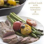 Easy Grilled Lamb with Pan Seared Asparagus. A low carb, primal, paleo recipe from Terra's Kitchen