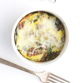 Mini Low Carb Bacon Kale Frittatas