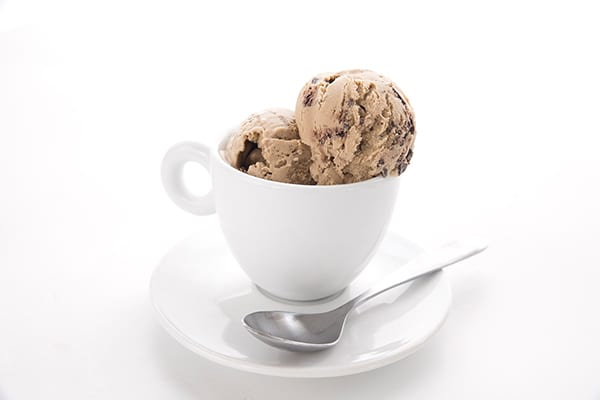 Keto Coffee Ice Cream in a coffee cup