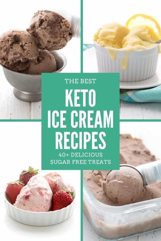 Collage for Keto Ice Cream Recipes
