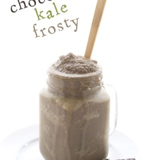 Low carb keto frosty recipe made with coconut milk and kale. Crazy but true! Dairy-free THM LCHF Banting recipe