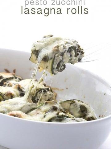 Low Carb Pesto Zucchini Rolls Recipe