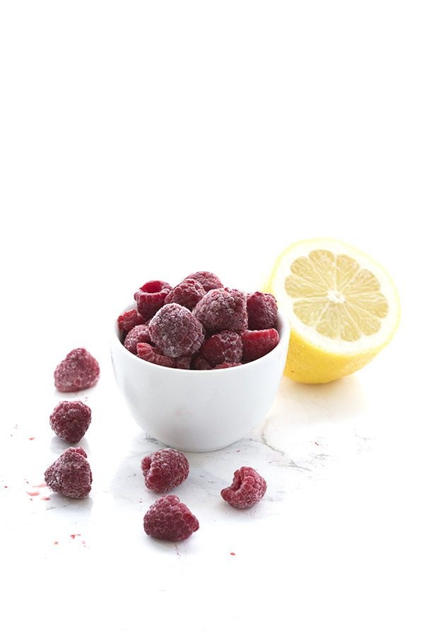 Raspberries and lemon come together in a seriously delicious low carb smoothie recipe.