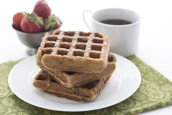 My new favourite low carb breakfast recipe. Zucchini Spice Waffles.