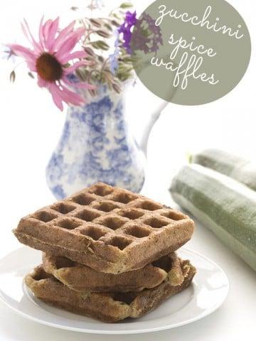 Low Carb Grain-Free Zucchini Spice Waffles