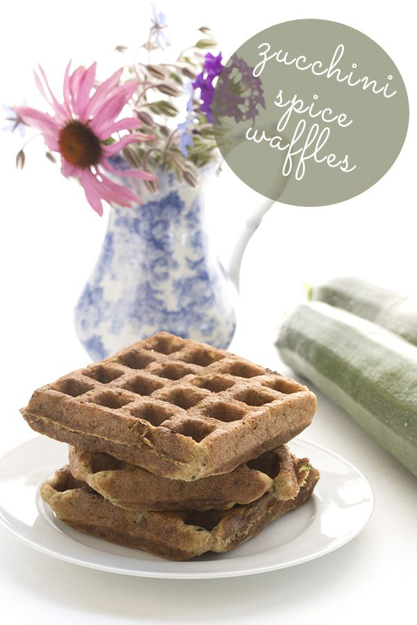 Low Carb Dairy-Free Zucchini Spice Waffles