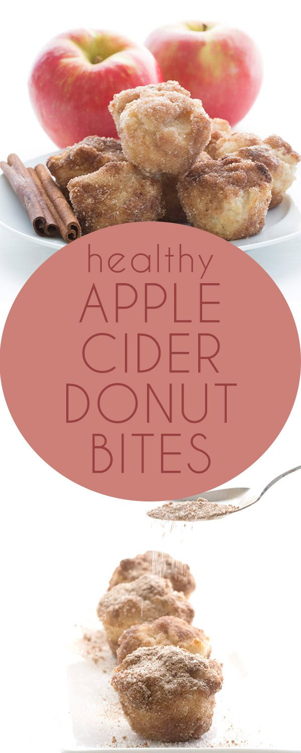 """Low Carb Apple Cider Donut Bites. Deliciously Keto LCHF THM Recipe. Dipped in butter and rolled in cinnamon """"sugar"""" for a taste like the real thing!"""