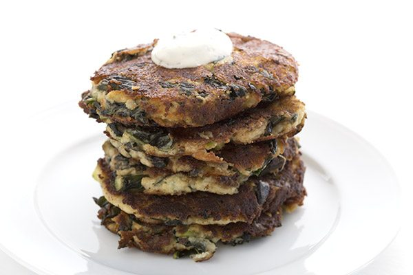 Healthy Kale Cauliflower Fritters. LCHF Keto Grain-Free Recipe