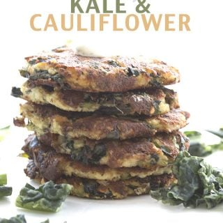 Low Carb Cheesy Kale & Cauliflower Fritters. LCHF Keto Banting THM Recipe