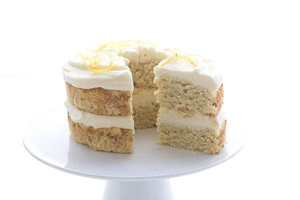 Delicious low carb mini lemon creme cake. A fun way to indulge!