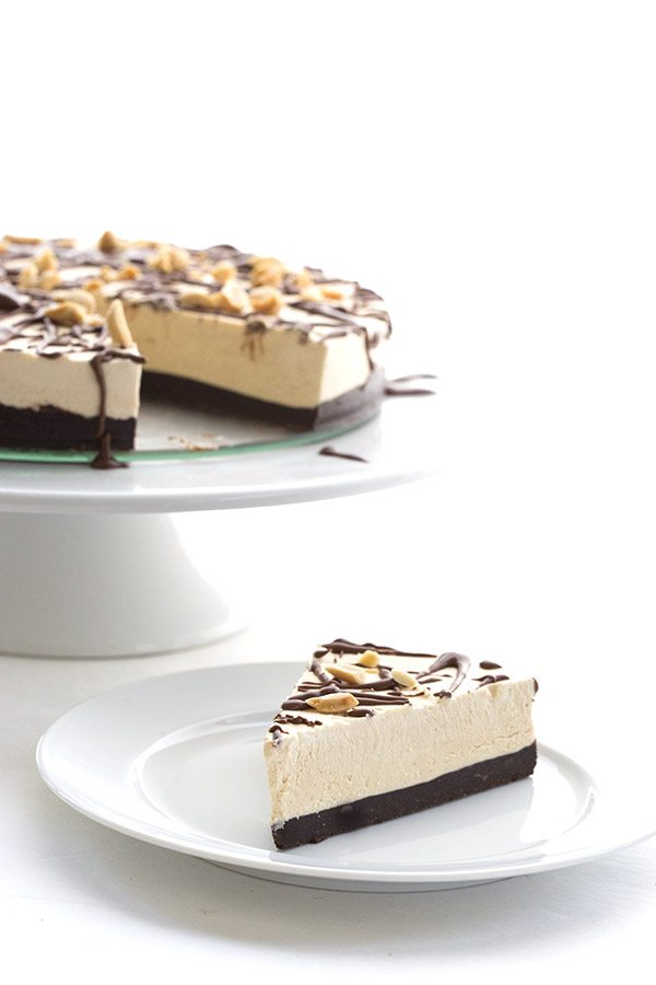 Low Carb Peanut Butter Brownie Ice Cream Cake. LCHF THM Banting Atkins Recipe