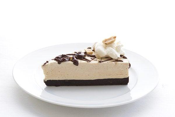 Keto Peanut Butter Brownie Ice Cream Cake. Low Carb THM Atkins LCHF Recipe