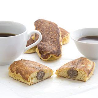 Low Carb Sausage Stuffed Pancake Recipe. LCHF Keto THM Banting Recipe