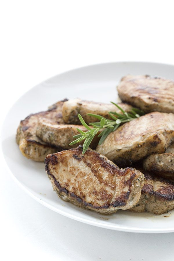 Quick and easy low carb pork medallions recipe.